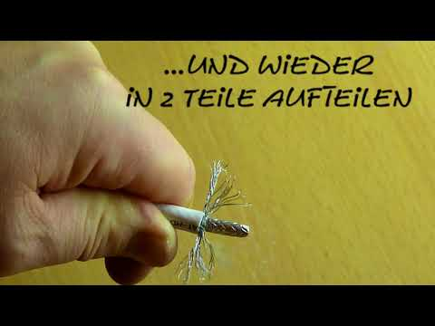 F-Stecker anbringen / montieren an SAT / Kabel-TV Koaxialkabel... heute mal anders (Anleitung / DIY)