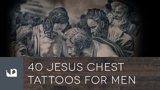40 Jesus Chest Tattoos For Men