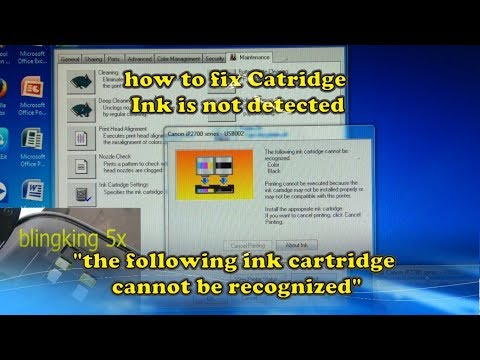 "Cara Mengatasi Catridge Canon Tidak  Terdeteksi ""the Following Ink Cartridge Cannot Be Recognized"""