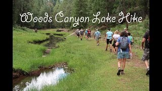 "Woods Canyon Lake, on the Mogollon Rim, hike along the creek running out behind the dam.  It's a pretty flat ""in & out"" stroll of between 4.5 and 5 miles."