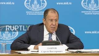 Russia: Lavrov tentatively welcomes Trump on foreign policy, slams