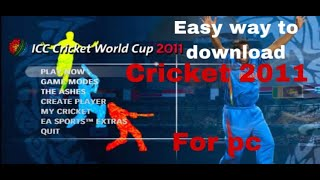 icc world cup 2007 game free download for pc - TH-Clip