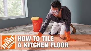 How To Tile A Kitchen Floor Part 1 | The Home Depot