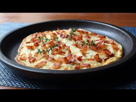 Tarte Flambée - Alsatian Bacon & Onion Tart - How to Make Tarte Flambée