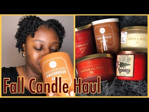 🍁Fall🍁Candle Haul 2017| Marshall's..TJ MAXX...DW Home Candles