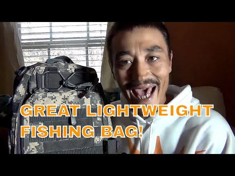 Best Sling Bag Under 40 Dollars LIGHTWEIGHT Product review Fishing Tackle Backpack #Hookeminthemouth