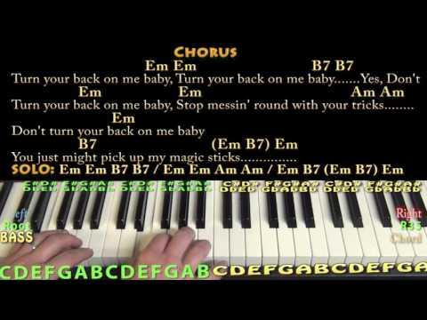 Black Magic Woman Guitar Lesson Chord Chart In Em With On Screen Lyrics