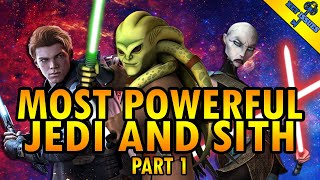 The Most Powerful Jedi and Sith in Star Wars (Canon) | Part 1