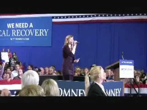 Rachel Rizzuti National Anthem at Mitt Romney Event