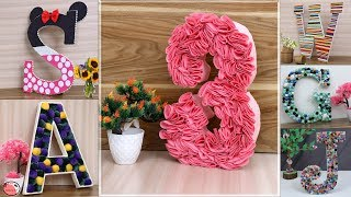 DIY 3D ALPHABET IDEAS FOR PARTY DECORATION || HOW TO MAKE 3D LETTER