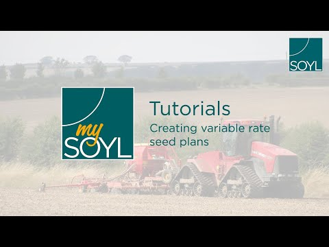 SOYL - MySOYL: Creating variable seed rate plans