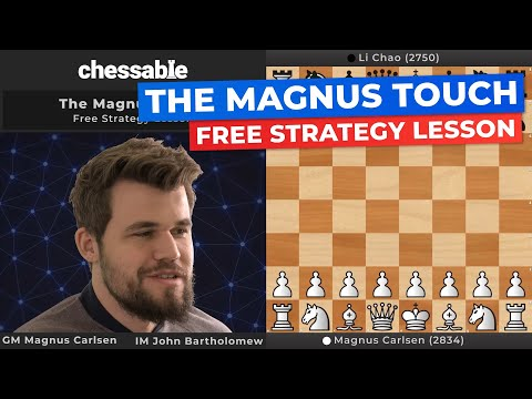 FREE Strategy Lesson from GM Magnus Carlsen and Chessable!