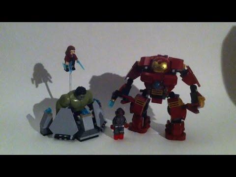 Vidéo LEGO Marvel Super Heroes 76031 : Le combat du Hulk Buster