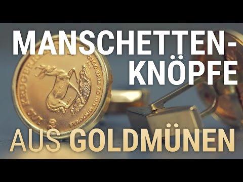 Krügerrand & American Eagle Manschettenknöpfe aus Gold