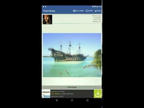 Video of FB Photo Backup