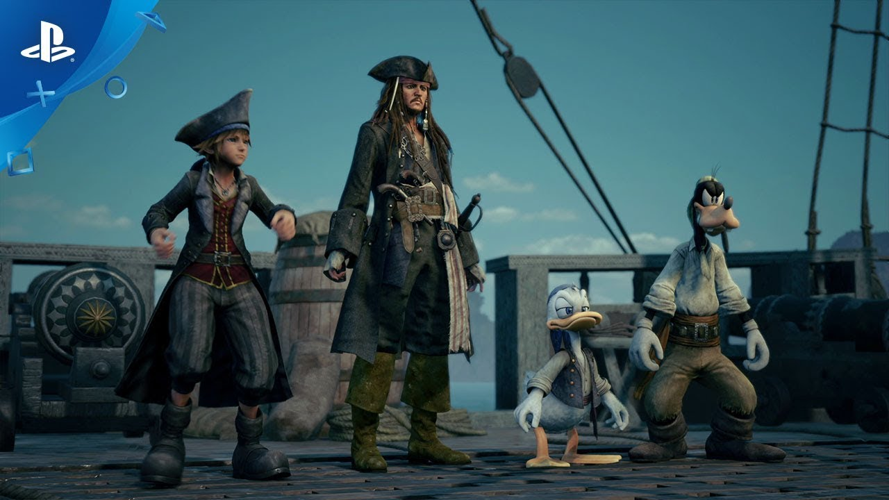 Novo Trailer para Kingdom Hearts III Revela Piratas do Caribe