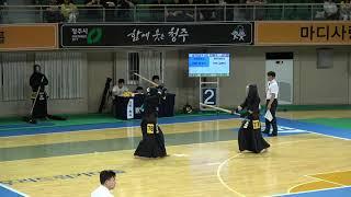 2019 단별검도대회 남자 3단부 128강 - 문성근 vs 김현수 [검도V] kendov