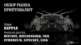Анализ роста Ripple. Рекомендации для Bitcoin, BitcoinGold, Ethereum, Litecoin, LISK, NEO.