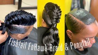 FishTail Braid FoHawk & Extended Ponytail | Protective Cap