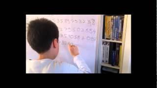 Vignette de Elouan, 10 ans, mémorise 100 Décimales de Pi.