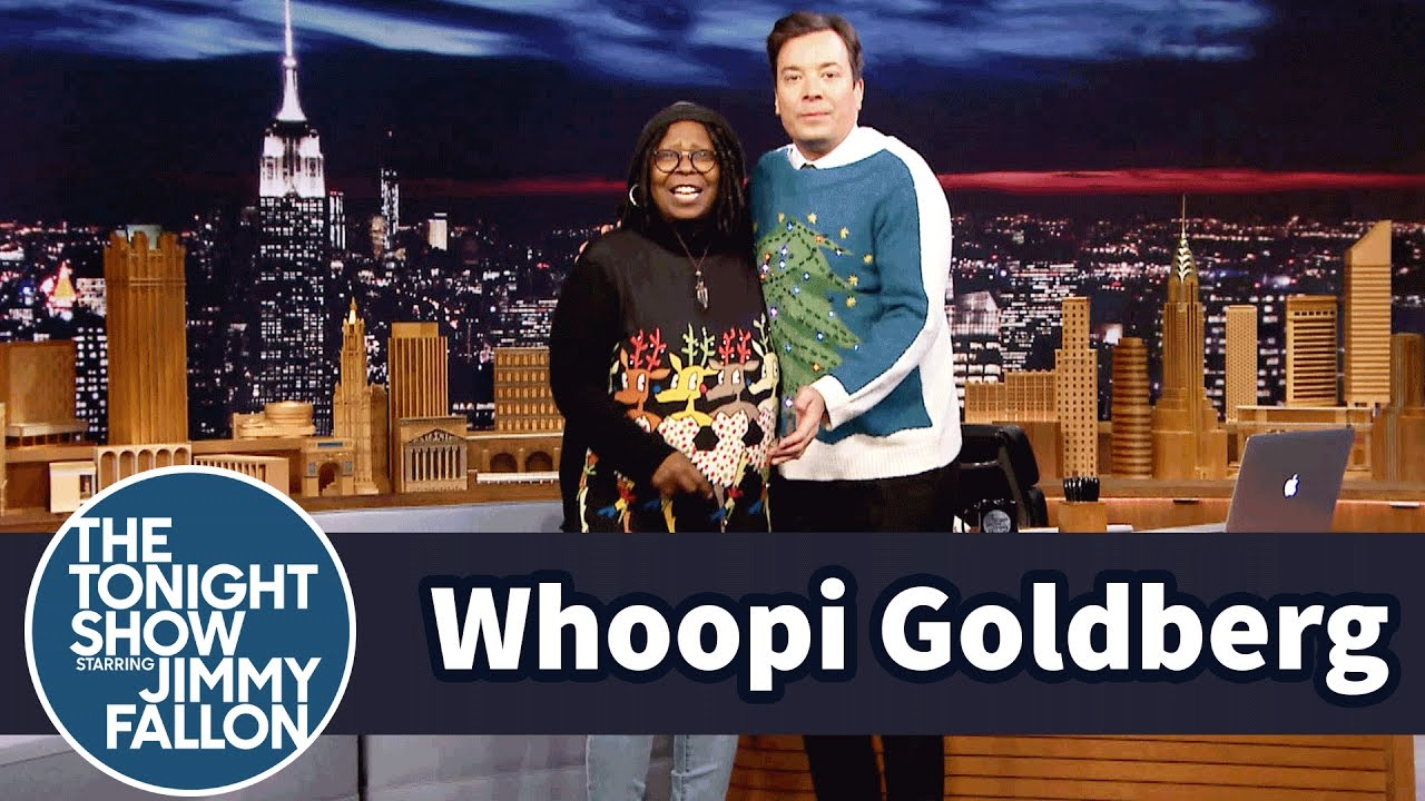 Whoopi Goldberg Has Jimmy Model Her Holiday Sweaters thumbnail