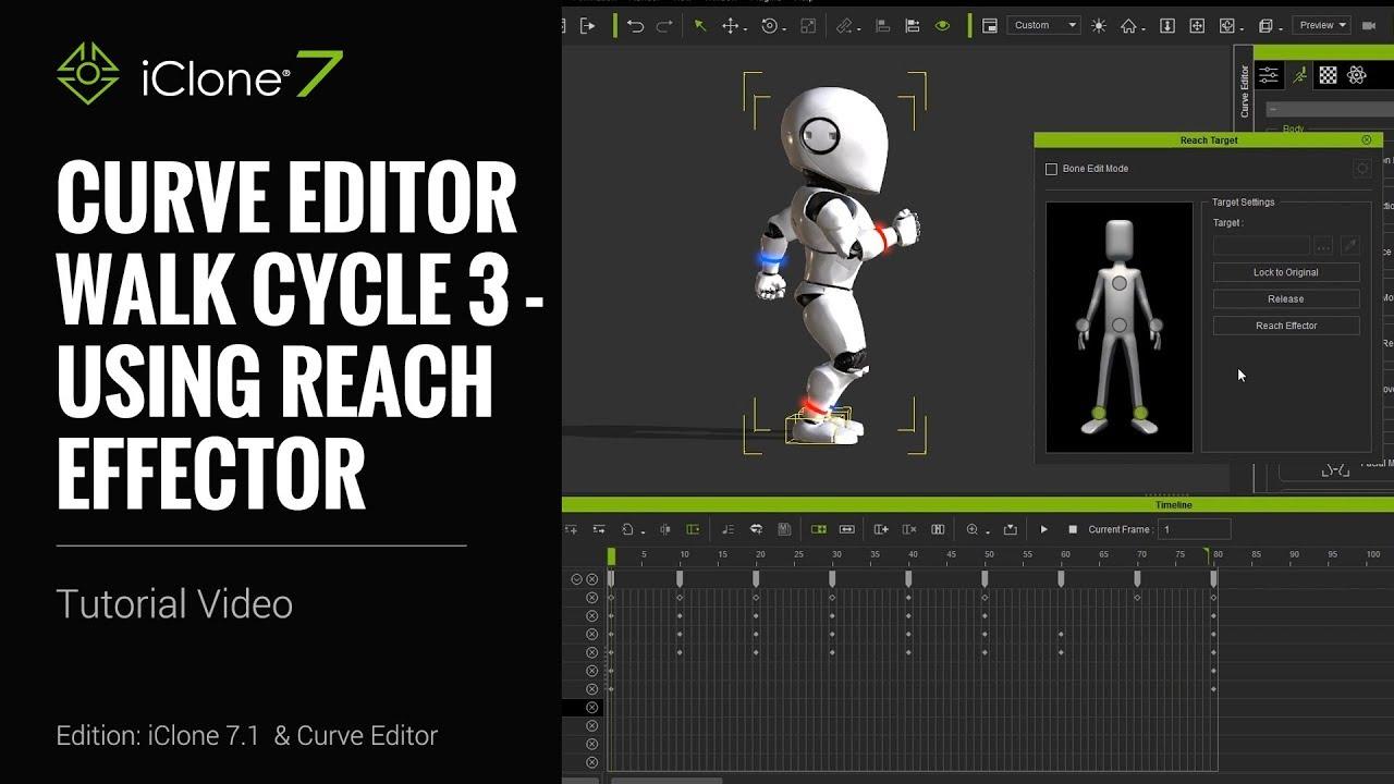 Walk Cycle 3 - Using Reach Effector