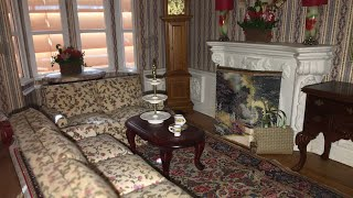 Dollhouse Miniature Easy Fireplace Screen & Room Divider DIY