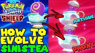 How to evolve SINISTEA in POLTEAGEIST in Pokemon Sword & Shield