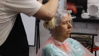 ОКРАШИВАНИЕ, ШОКОЛАДНО - ПЛАТИНОВЫЙ БЛОНД,  Обучение для парикмахеров от Узун Виталия, Одесса.