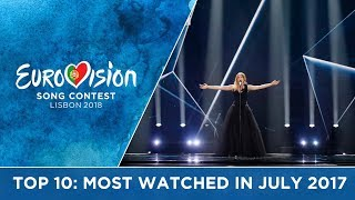 TOP 10: Most watched in July 2017 - Eurovision Song Contest