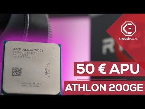 PROZESSOR MIT GRAFIKEINHEIT für NUR 50 Euro ?!   AMD Athlon 200GE Review