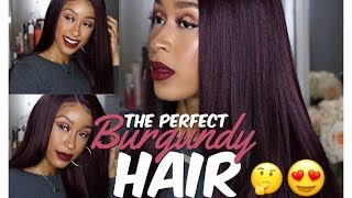 BURGUNDY HAIR WITHOUT BLEACH! The Stylist Super Natural Straight | Sam's Beauty