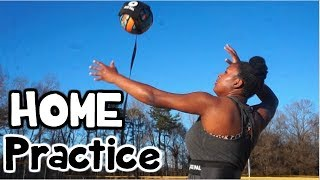 How To Practice Volleyball By YOURSELF at HOME!