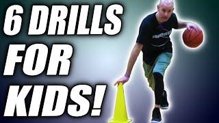 6 BEST Dribbling Drills For Kids! Basketball Drills For Beginners