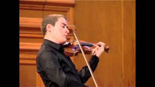 J. S. Bach: Sonata for solo violin in C Major, 2nd mov.: Fuga (Kristóf Baráti)