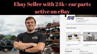 24,000 Active Car Parts On Ebay.  Ebay Seller Sells 6 Figures A Year