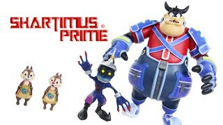 Kingdom Hearts Pete, Soldier Heartless, Chip, and Dale Diamond Select Toys Video Game Figure Review