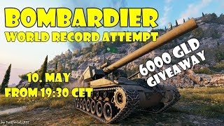 BOMBARDIER WORLD RECORD ATTEMPT (World Of Tanks - Training Room Event)