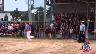 Batter Hits Home Run On Backward Swing   Surprise