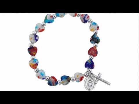 Murano Style Heart Bracelet | The Catholic Company