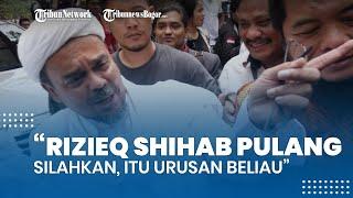 Habib Rizieq Shihab Pulang dari RS Ummi lewat Pintu Belakang, Polisi: Silakan, Itu Urusan Beliau