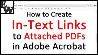 How to Create In-Text Links to Attached PDFs in Adobe Acrobat