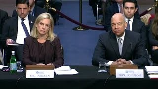 Senate Intel Committee Hearing on Election Security March 21, 2018. Sec. Kirstjen Nielsen