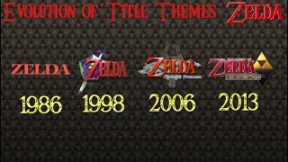 Evolution Of Title Themes 1986  2017 (The Legend Of Zelda)