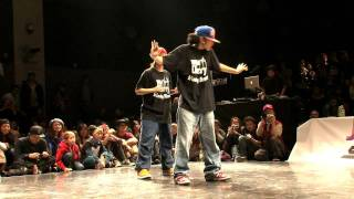 JUSTE DEBOUT 2012 【HIPHOP SIDE FINAL】RUSHBALL vs YASS&RYO