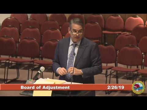 Board of Adjustment 02.26.19