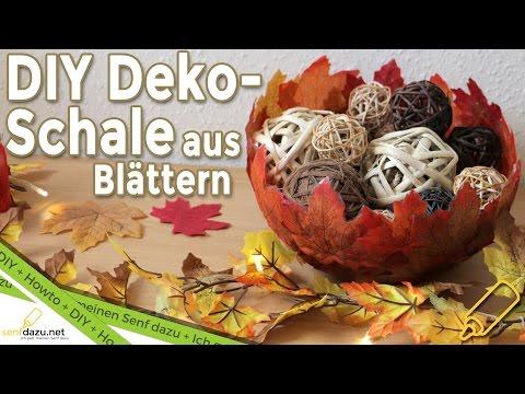 DIY - Deko Schale - Schale aus herbstlichen Blättern/Laub | Herbstlich Farbenfroh + Outtakes