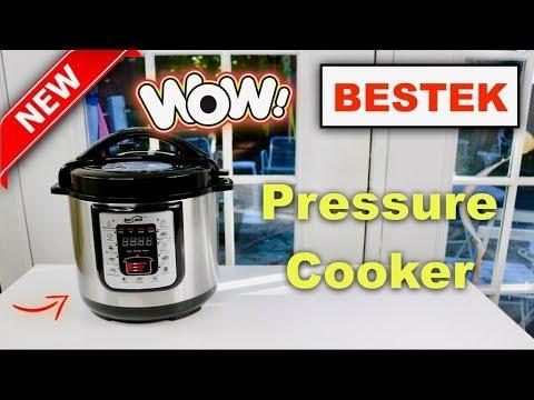 , BESTEK Electric Pressure Cooker, 6.3 Quart 11-in-1 Programmable Multi-Use Stainless Steel
