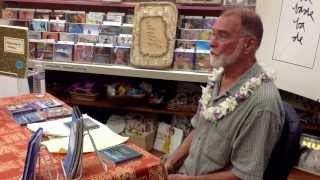 Bradajo talks story at Basically Books, hilo