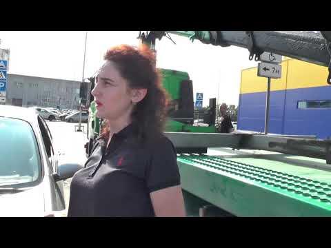 СтопХам Эвакуация автомобилей с места для инвалидов у гипермакета Лента